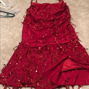 Red 2 piece jazz costume